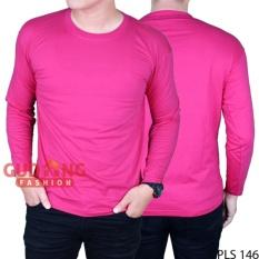 Jual Gudang Fashion Baju Pria Lengan Panjang Pink Fanta Online