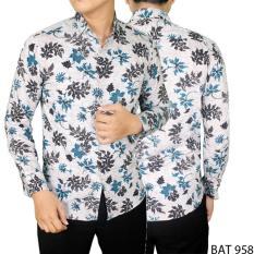 Gudang Fashion - Batik Casual Pria - Putih