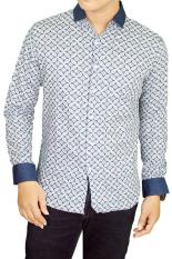 Harga Hemat Gudang Fashion Batik Kasual Pria Biru