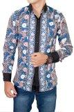 Jual Gudang Fashion Batik Modern Pria Lengan Panjang Biru Gudang Fashion Online