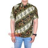 Harga Gudang Fashion Batik Modern Pria Smart Casual Hijau Termahal