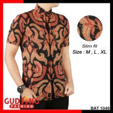 Gudang Fashion - Batik Modern Slim Fit Lengan Pendek Pria - Kombinasi Warna