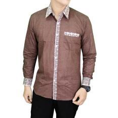Gudang Fashion Batik Panjang Pria Coklat Tua Promo Beli 1 Gratis 1