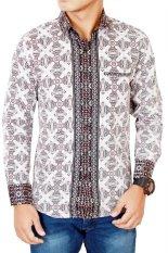 Toko Gudang Fashion Batik Slim Fit Lengan Panjang Coklat Di Banten
