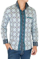 Toko Gudang Fashion Batik Slim Fit Lengan Panjang Hijau Gudang Fashion Di Banten