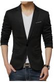 Beli Gudang Fashion Blazer Korea Pria Hitam Lengkap