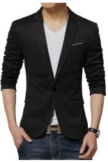 Beli Gudang Fashion Blazer Korea Pria Hitam Baru