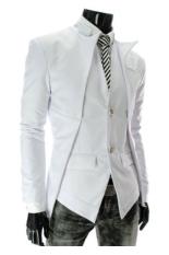 Beli Gudang Fashion Blazer Korea Pria Putih Online