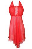 Harga Gudang Fashion Busana Lingerie Seksi Merah Fullset Murah