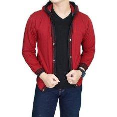 Toko Gudang Fashion Cardigan Pria Panjang Merah Terlengkap Di Indonesia