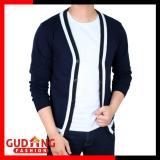 Harga Gudang Fashion Cardigan Sweater Pria Biru Dongker Original
