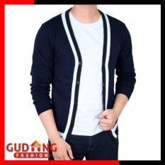 Ulasan Tentang Gudang Fashion Cardigan Sweater Pria Biru Dongker