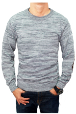 Situs Review Gudang Fashion Casual Male Sweaters Abu Abu
