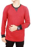 Katalog Gudang Fashion Casual Outfit Long Sleeve Male Tshirts Merah Terbaru