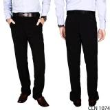 Harga Gudang Fashion Celana Bahan Pria Terbaru Hitam Origin
