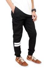 Beli Gudang Fashion Celana Jogger Pants Pria Black Secara Angsuran