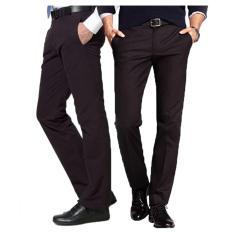 Beli Gudang Fashion Celana Kerja Kantoran Formal Slim Fit Hitam Nyicil