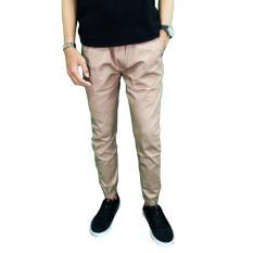 Gudang Fashion - Celana Pria Jogger Panjang - Krem