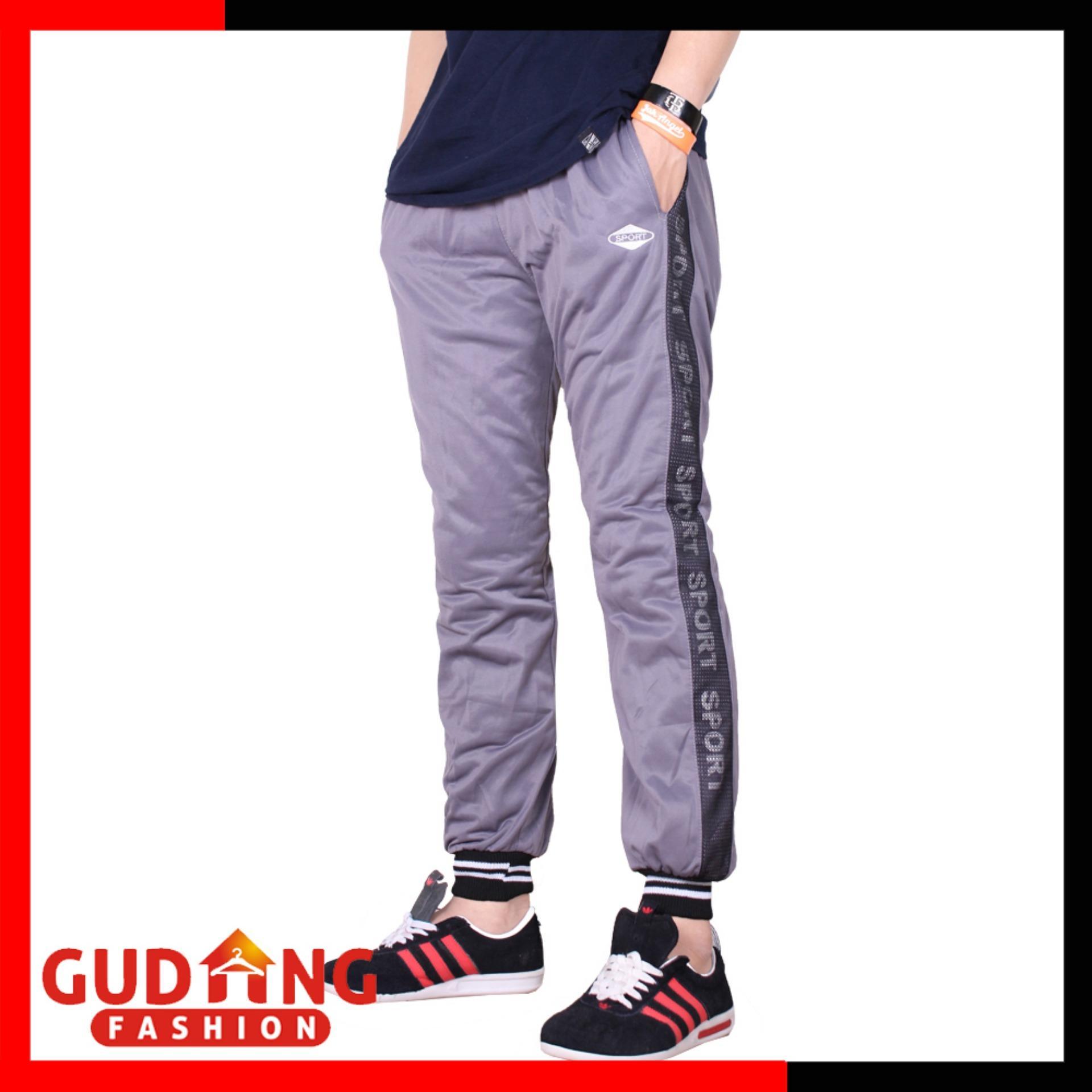 Gudang Fashion - Celana Training Casual - Abu