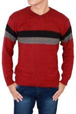 Jual Gudang Fashion Fashionable Sweaters For Men Merah Gudang Fashion Original