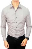 Harga Gudang Fashion Formal Male Shirts Abu Abu Terbaik