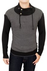 Gudang Fashion Harajuku Sweaters For Male Grey Promo Beli 1 Gratis 1