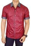 Spesifikasi Gudang Fashion Hem Casual Pria Merah Terbaik
