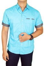 Tips Beli Gudang Fashion Hem Slim Fit Pria Biru