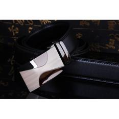 Jual Gudang Fashion Ikat Pinggang Model Rel Hitam Branded Murah