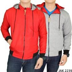 Harga Gudang Fashion Jaket Bolak Balik Keren Merah Abu Gudang Fashion Original