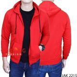 Beli Gudang Fashion Jaket Keren Polos Merah Kredit Banten