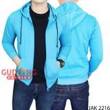 Miliki Segera Gudang Fashion Jaket Mantel Pria Biru Muda