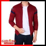 Harga Gudang Fashion Jaket Olahraga Pria Merah Maroon Murah