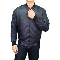 Daftar Harga Gudang Fashion Jaket Parasut Bomber Pria Biru Navy Gudang Fashion