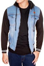 Beli Gudang Fashion Jeans Jacket For Mens Biru Muda Online Murah