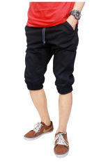 Gudang Fashion - Jogger Shorts For Men - Hitam