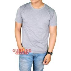 Gudang Fashion - Kaos Lengan Pendek Simple Elegan Pria - Abu Misty Muda