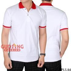Ulasan Tentang Gudang Fashion Kaos Pendek Berkerah Pria Putih Kerah Merah