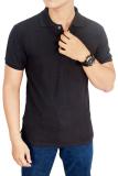 Gudang Fashion Kaos Polos Kerah 100 Cotton Pique Abu Abu Tua Terbaru