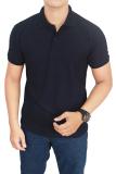 Gudang Fashion Kaos Polos Kerah 100 Cotton Pique Biru Navy Gudang Fashion Murah Di Banten