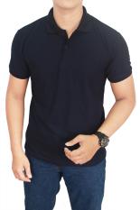 Jual Gudang Fashion Kaos Polos Kerah 100 Cotton Pique Biru Navy Gudang Fashion Asli