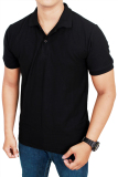 Beli Gudang Fashion Kaos Polos Kerah 100 Cotton Pique Hitam Murah