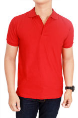 Situs Review Gudang Fashion Kaos Polos Kerah 100 Cotton Pique Merah Cabe