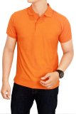 Situs Review Gudang Fashion Kaos Polos Kerah 100 Cotton Pique Orange