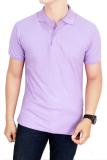 Spesifikasi Gudang Fashion Kaos Polos Kerah 100 Cotton Pique Ungu Muda Yang Bagus Dan Murah