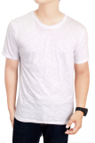 Beli Gudang Fashion Kaos Polos Pendek Cotton Combed S20 Slub Putih Nyicil