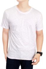Diskon Gudang Fashion Kaos Polos Pendek Cotton Combed S20 Slub Putih Banten