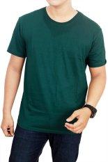 Jual Gudang Fashion Kaos Polos Pendek Cotton Combed S24 Bottle Green Gudang Fashion Ori