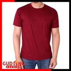 Gudang Fashion Kaos Polos O Neck Merah Maroon Daftar Update Harga
