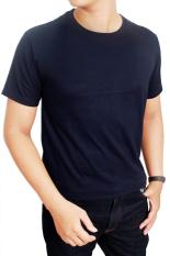 Jual Gudang Fashion Kaos Polos Pendek Pria O Neck Biru Navy Branded